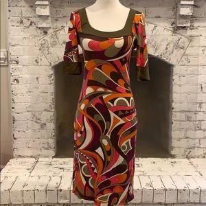 Multi color stretch dress